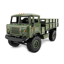 New WPL B-24 4WD Military RC Truck 1:16 2.4G DIY Mini Off-road RC Military Truck Four-wheel Drive 10km/h Maximum Speed