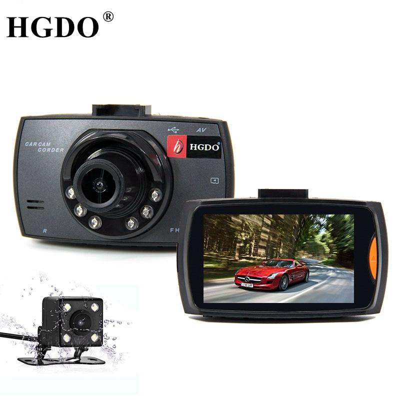 HGDO Dash cam DVR Car Dual Lens Camera Full HD 1080P 2.7 dash camera Video Recorder G-Sensor Night Vision DVR plusobd hd car dvr recorder for mercedes benz b w169 w245 2007 2012 dash camera night vision g sensor with aluminium alloy shell