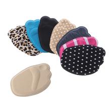 Sprzedawaj ze stratą! Kobiety dziewczyna gąbka przednia wkładka do buta antypoślizgowa pół wkładka ulga w bólu wygodna pielęgnacja stóp materiał z gąbką Mini tanie tanio THINKTHENDO CN (pochodzenie) ≤1cm Średnie (b m) Wkładki 10B00184 WOMEN Memory foam Patchwork Pot-chłonnym Oddychające