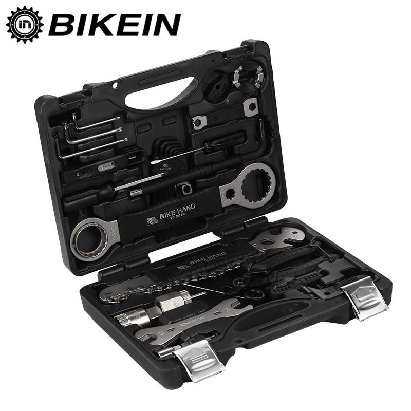 BIKEIN 18 in 1 Bike Repair Tools Kit Set Multifunction MTB Tire Chain Repair Tools Spoke Wrench Hex Screwdriver Bicycle Tools 8 in 1 professional tire repair kit