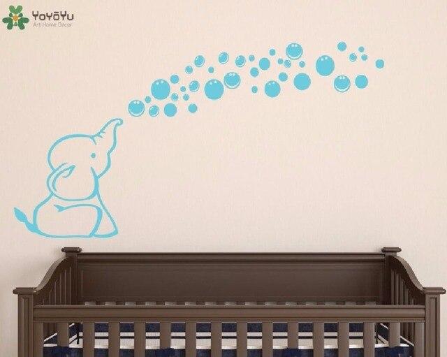 Muurtattoo vinyl sticker olifant bellen blazen nursery baby kids