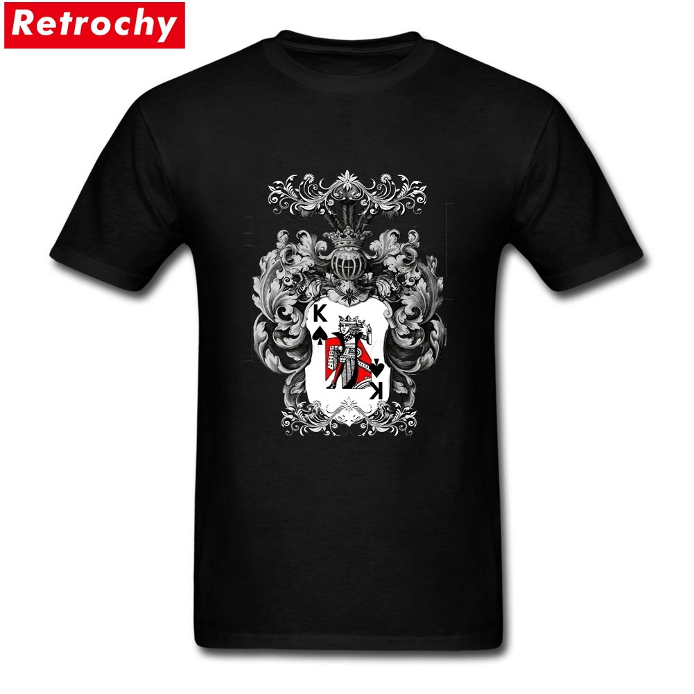 Short Sleeve Cotton Custom Poker king Tees Shirt Random Mens 3XL Made T Shirts ...