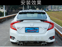 Honda for civic 1o gen 2016 rs 탄소 섬유 테일 스포일러 윙