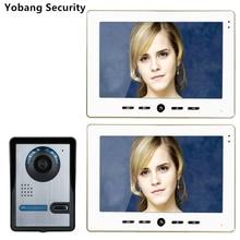 Yobang Security freeship 10″Home Intercom Wired 7″ TFT Video Doorphone door camera video intercom system video door home phone