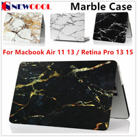 Fashion Marble Grain Matte Hard Case For Apple Mac MacBook Air 11 13 Pro 13 15