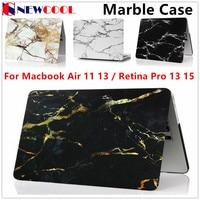 Fashion Marble Grain Matte Hard Case For Apple Mac MacBook Air 11 13 Pro 13 15