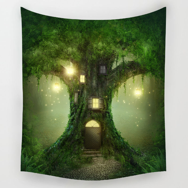 Fairy Forest Tapestry Bohemian Wall Hanging Tapestry Forest Starry Night Tapestry for Home Wall Decorations Tapestries