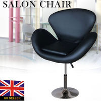 Shellhard Black Barber Chair PU Leather Beauty Tattoo Styling Spa Salon Stool Barber Chair