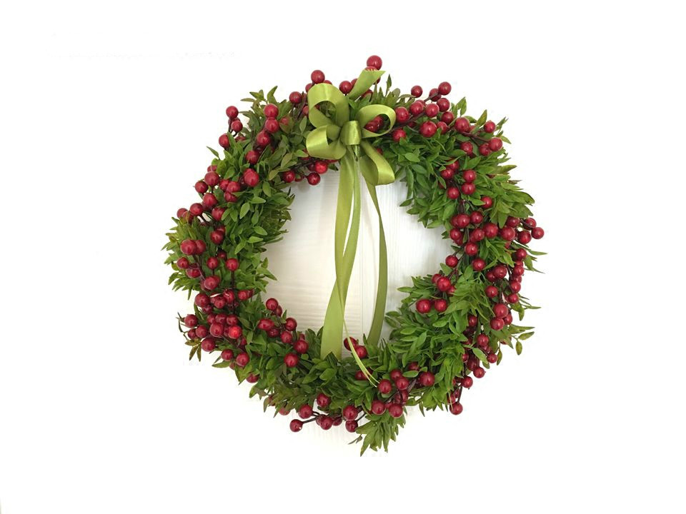 32cm Christmas Wreath Decorative Simulation Flowers Christmas Decoration for Home Party New Year Supplies