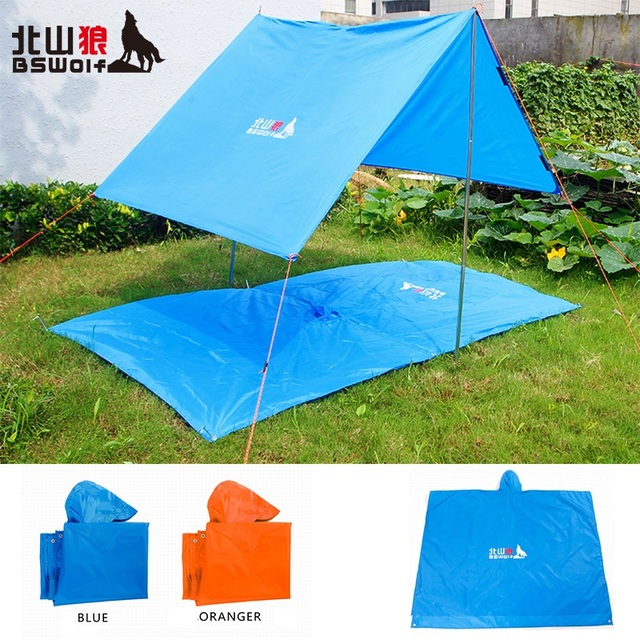 Multifunctional 3 in 1 Outdoor Raincoat Rain Wear C&ing Mat C&ing Tent Ground Mat Sun Shelter : tent ground cover - memphite.com