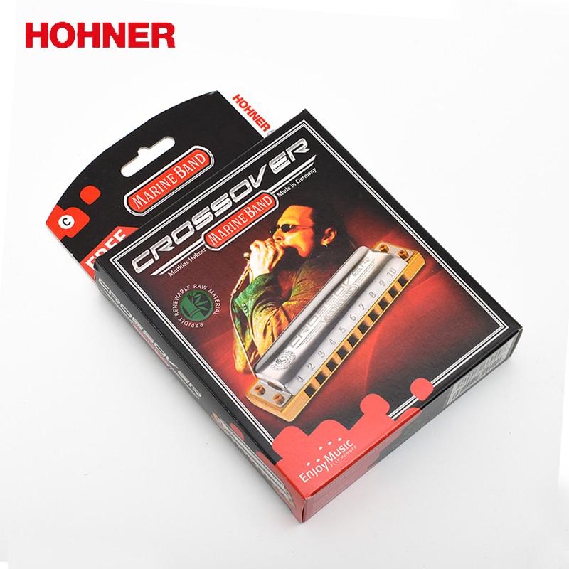 Hohner Marine Band Crossover 10 Hole Diatonic Harmonica bamboo comb Blues harp Gaita Standard 10 Hole Harp