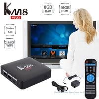 Genuine KM8 Pro Smart TV Box Android 6 0 TV Box Amlogic S912 Octa Core
