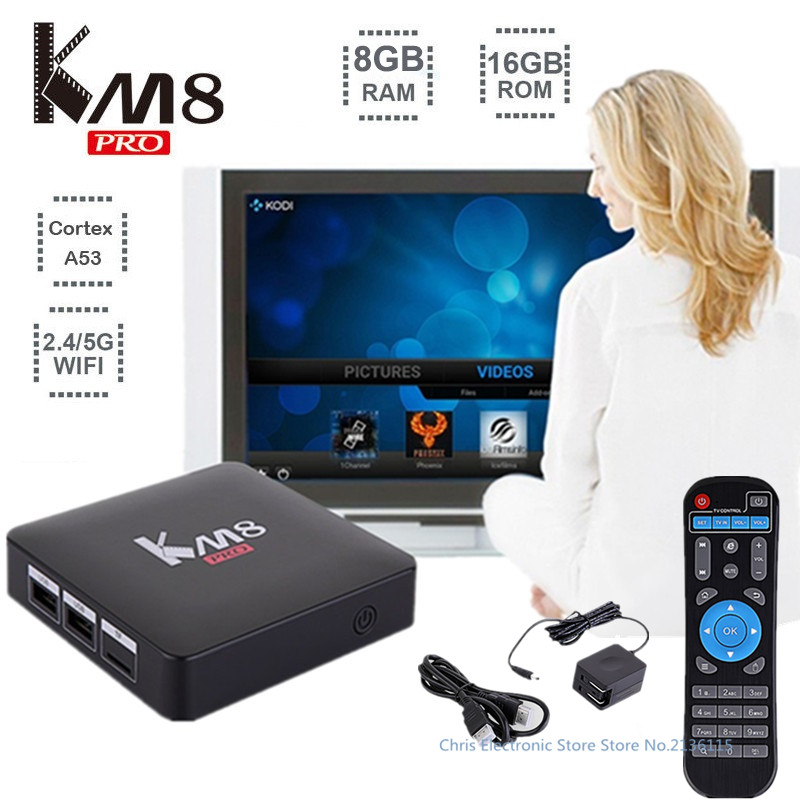 Mesuvida KM8 Pro Smart TV Box Android 6 0 TV Box Amlogic S912 Octa Core CPU