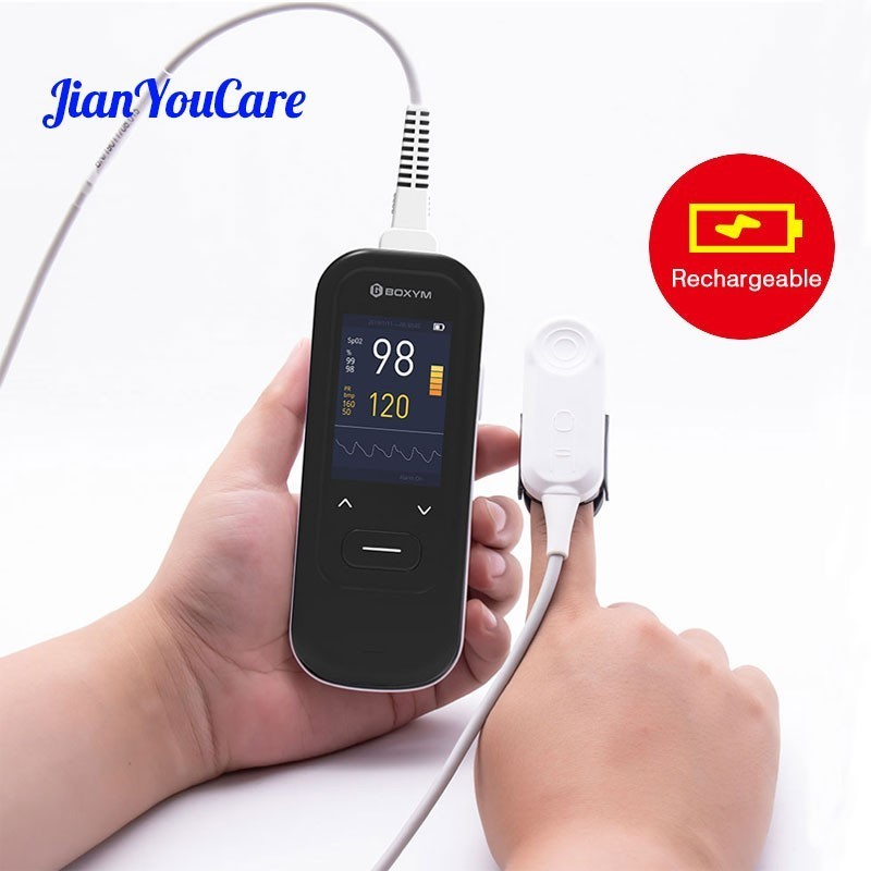 Medical Handheld Pulse Oximeter Portable Rechargeable blood oxygen Heart Rate Monitor For Adult Children Child Newborns oximetro