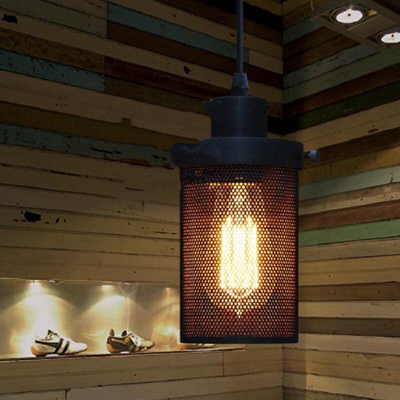 JAXLONG Loft Industrial Wind Single Head Pendant Light Creative Bar Restaurant Metal Bedroom Hanging Lighting in Pendant Lights from Lights Lighting