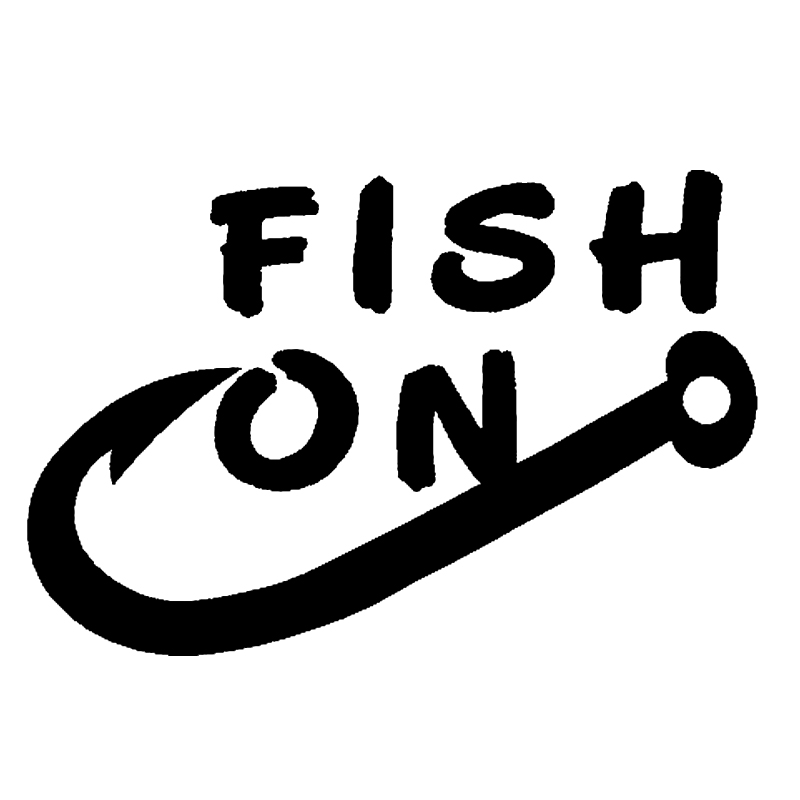 Hot Sale Vinyl Decal Fish On Fishing Hook Boat Personality