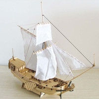 Ship Assembly Model DIY Kits 310mm Wooden Sailing Boat Scale Decoration Antique Wood Toy Model Building Kits