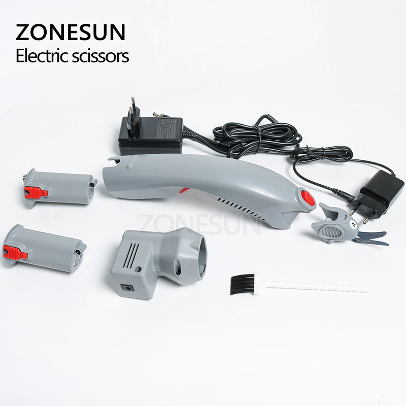 ZONESUN Wireless Electric Scissors Cutter Cutting paper Clothes Fabric Textile leather suitcase trunk trimming cutting edge tool - 5
