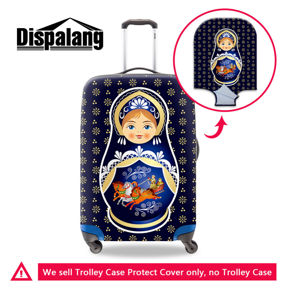 Matryoshka Elastic Luggage Protective Cover For 18-30 Inch Trolley Suitcase Protect Dust Cover Russian Doll Travel Accessories