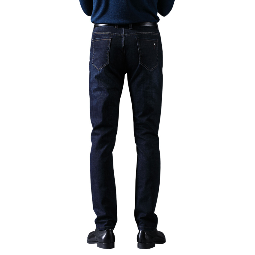 цена на 2017 LABEOUF  Dark blue Jeans men's Jeans Masculina Cotton Denim Jeans for men Long casual straight Slim male pants