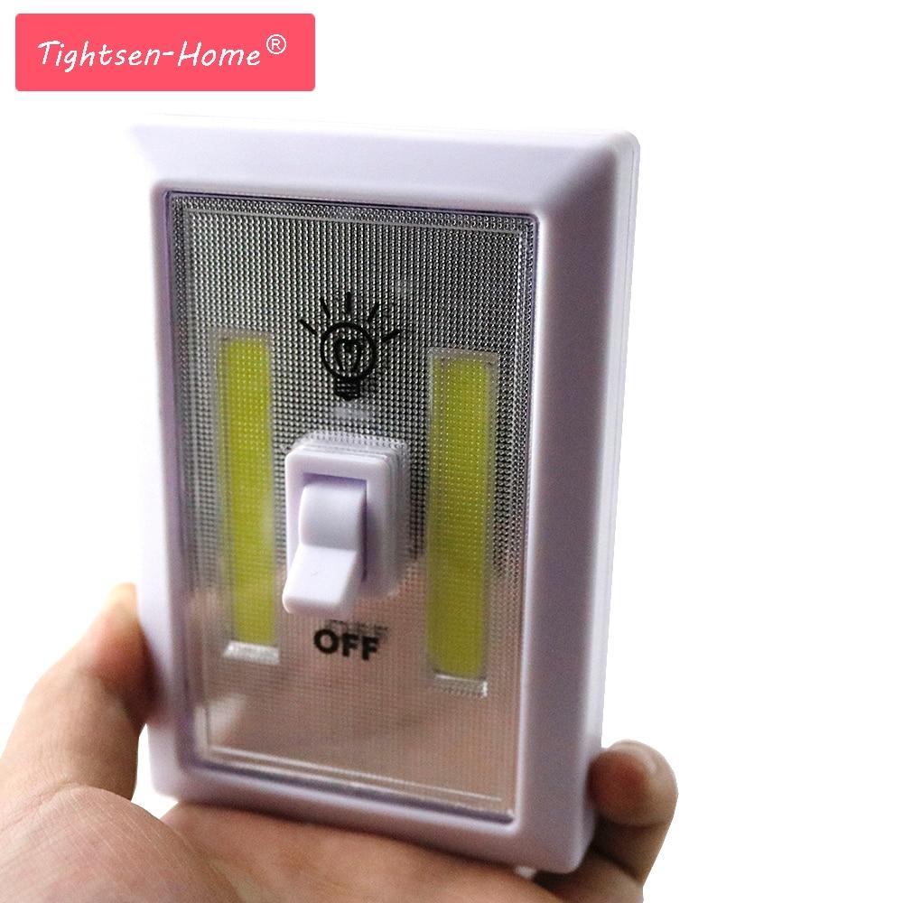 Led Garage Lights Battery: Magnetic LED COB Switch Light Wall Night Lights Cordless