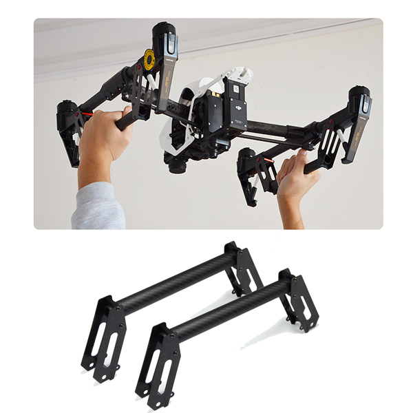 ФОТО carbon fiber handheld release/ take-off device landing gear enhancer gimbal protector for dji inspire 1