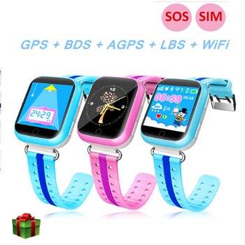 Смарт-часы Q100 Q750 для Для детей детские часы-телефон с 1,54 дюймов Сенсорный экран, Wi-Fi, GPS SOS вызова смартфон часы PK Q90