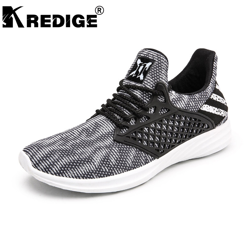 KREDIGE Summer New Arrival Breathable Men Shoes Hard-Wearing Soles Light Low Lace-Up Shoes Heigh Wearing Male Shoes Big Size