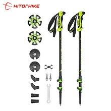 Hitorhike Pair/2pcs 7075 Trekking Poles Nordic Walking Poles 7075 Trekking Stick Alpenstock Walking Stick For Tourism