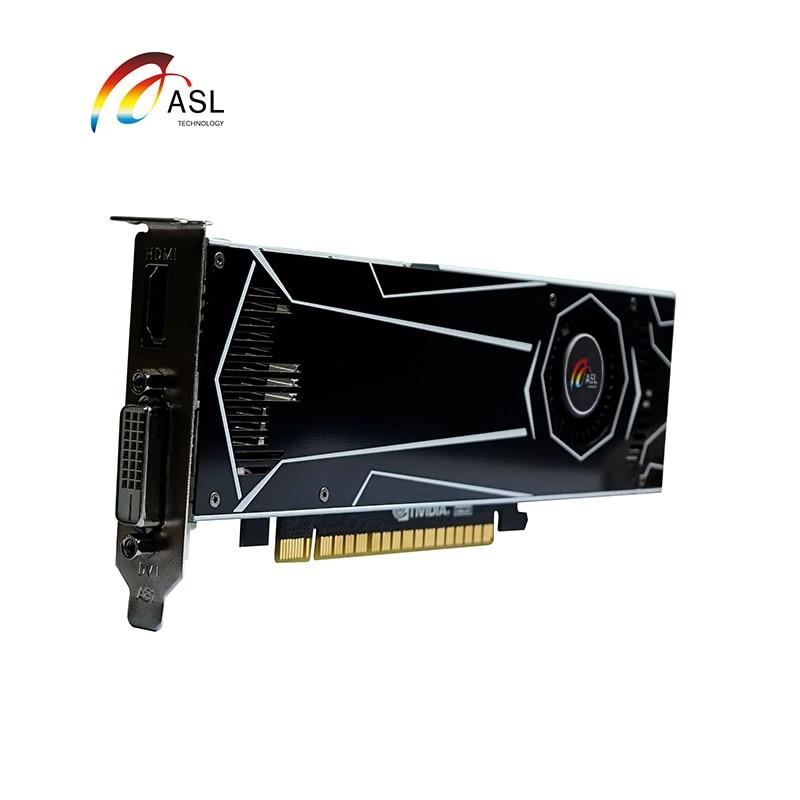 New Graphics Card Original  ASL GT1050 SSLP 2G GDDR5  128bit Video Cards For NVIDIA Geforce GT 1050 Hdmi Dvi Game