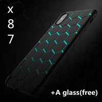 Shockproof Case For Iphone 8 Case Soft Silicone Anti Knock Black Transparent Case Back Cover For