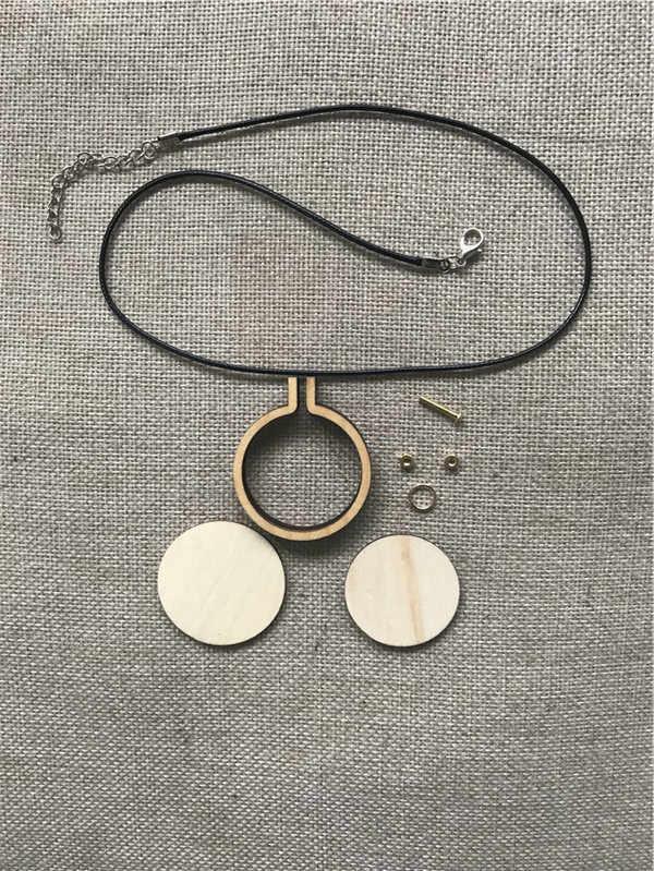ไม้เย็บปักถักร้อย Hoop สีดำโซ่และ Matel กรอบขนาดเล็กเย็บ Hoop CROSS กรอบ Hoop ไม้ต่างหู
