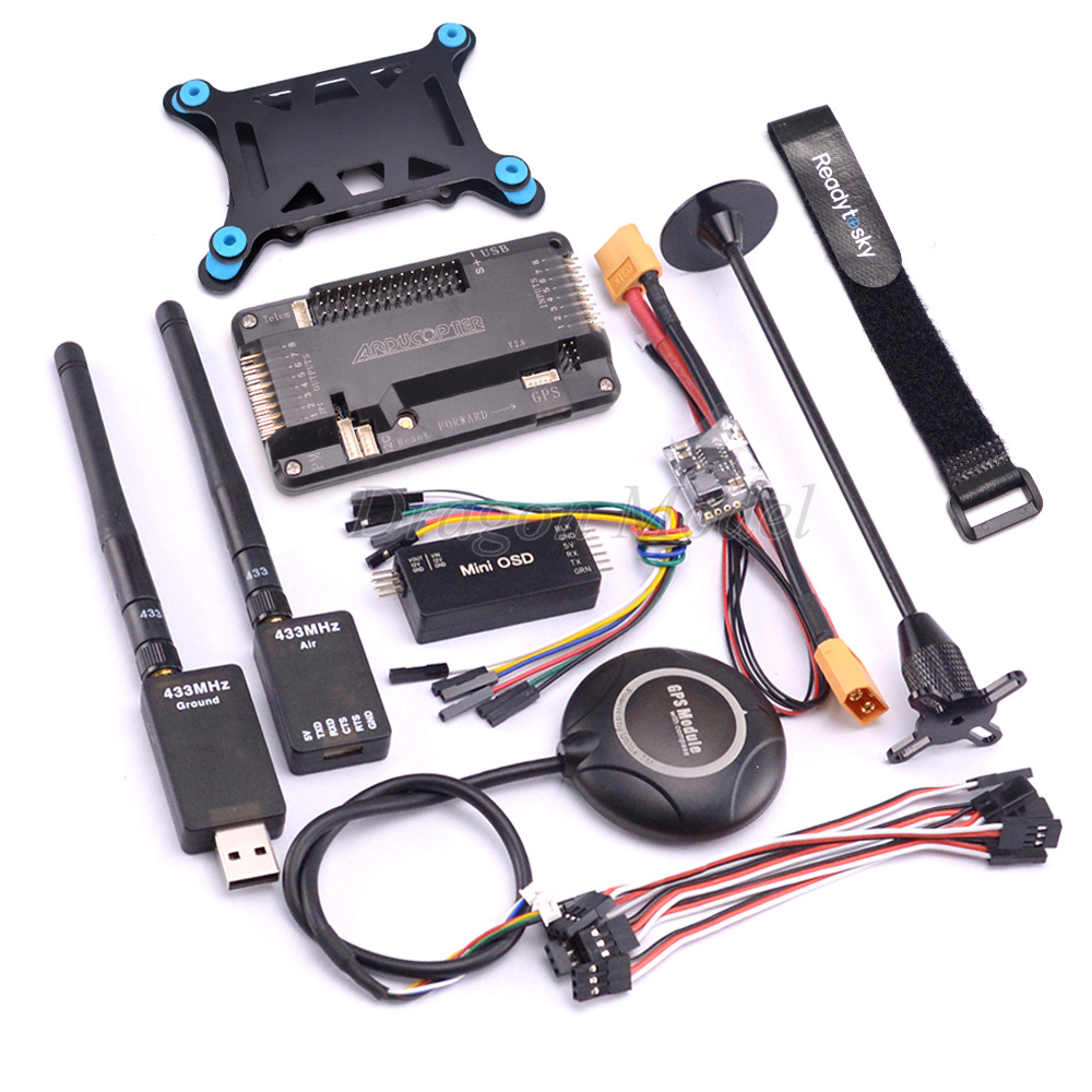 APM2.8 APM 2.8 Contrôleur de Vol Conseil 6 m/7 m/M8N GPS avec boussole Puissance module Mini OSD 433 mhz 433 Télémétrie