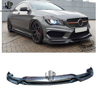 CLA carbon fiber R1 style Front Bumper Lip Spoiler Diffuser car body kit for Mercedes Benz CLA W117 sport car styling use 13 15