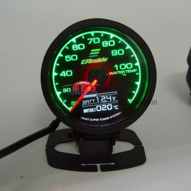 Gre Dy Universal 60mm Water Temp Sport Car Meter 7 Lights Auto Guage