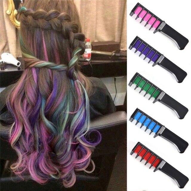 HOT Hair Dye brush Hair Care Temporary Hair Dye Combs Semi Permanent ...