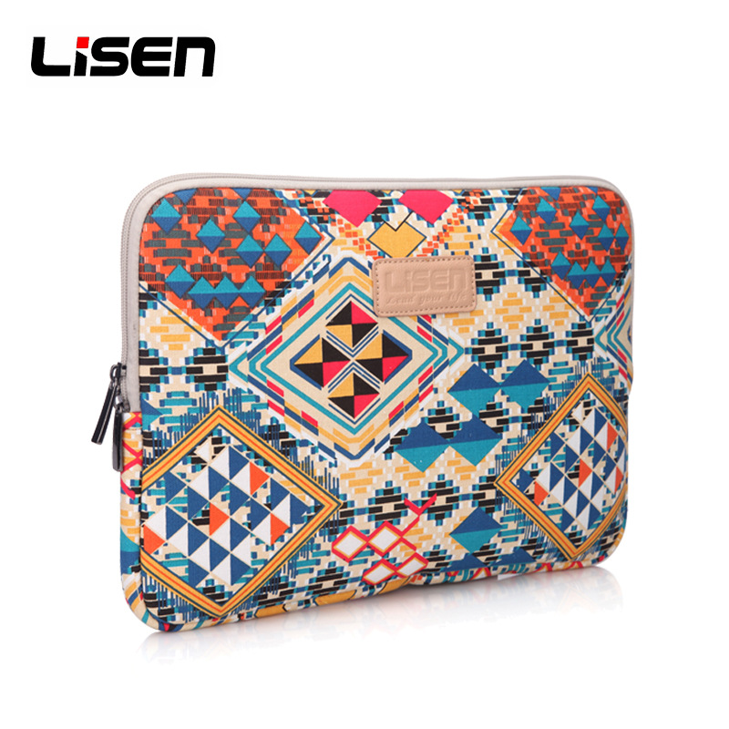 LISEN Liner package Canvas Fabric Sleeve Case Bag Notebook laptop sleeve 11/12/13/14/15 Inch for MacBook Air Pro Dell HP Lenovo