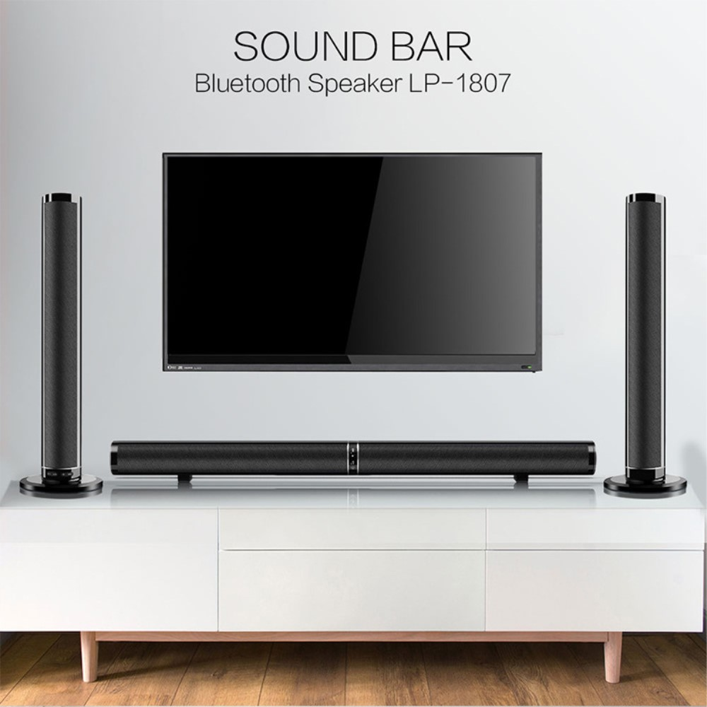 Dual Sound Bar Joinable Bluetooth Remote Home TV Computer Speaker TF Card Optical RCA HDMI AUX
