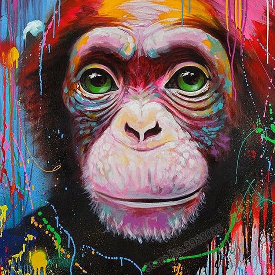 Full Drill 5d Diamond Painting Animals Baby Monkey Picture DIY Square Rhinestones Mosaic Embroidery Cross Stitch Kit Home DecorFull Drill 5d Diamond Painting Animals Baby Monkey Picture DIY Square Rhinestones Mosaic Embroidery Cross Stitch Kit Home Decor