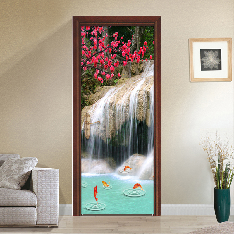 Master Bedroom Wallpaper Bedroom Door Closed During Fire Bedroom Tv Cabinet Design Baby Bedroom Decor: Aliexpress.com : Buy HD Waterfall Nature Landscape Mural