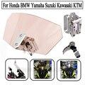Universal de la motocicleta parabrisas parabrisas deflector de viento de flujo de aire ajustable para encajar kawasaki bmw ducati honda ktm