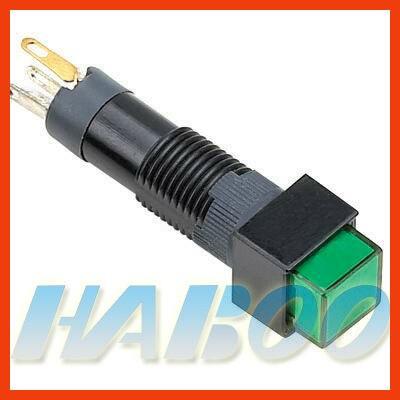 HABOO dia.8mm led indicator switch various color electri indicator lamp led light 6V,12V,24V