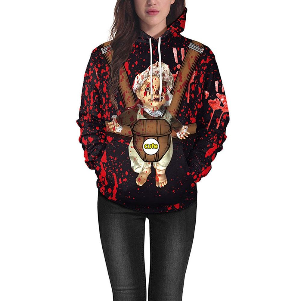 Vessos Halloween Men Sweatshirt Halloween Hoodies Soft Fashion Unisex Long Sleeves Outerwear Polyester Pullover M-XXL