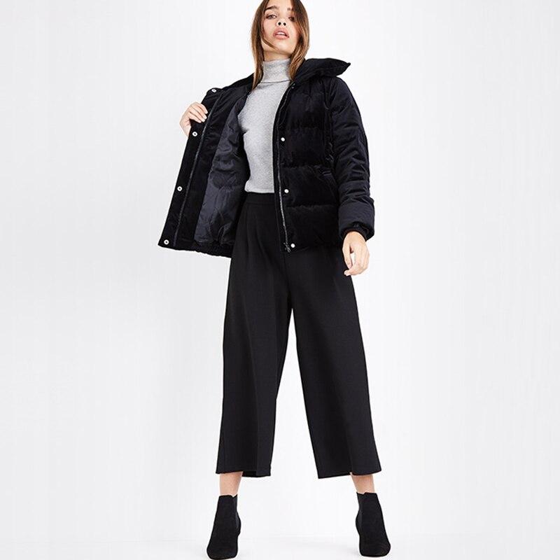 Gris Manteau Canard Noir vent Duvet 2018 Hiver Coupe Femmes De Outwear Court Neige Épais Veste Bas Chaud ItFqT0F