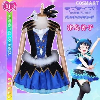 Anime Love Live Sunshine!Aqours Tsushima Yoshiko Water Blue NEW World Uniform lovelive Cosplay Costumes Full set For Halloween