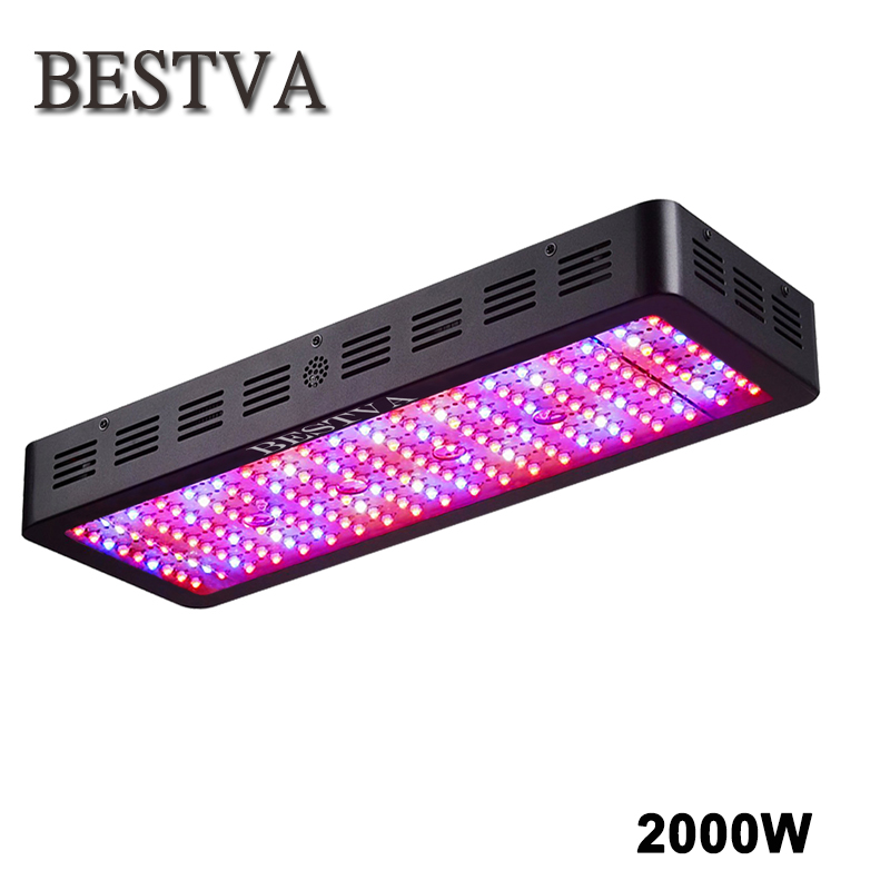 BESTVA Full spectrum 2000W Led Grow Light double chips for indoor Plants led light greenhouse flower veg growth grow led lights 300w double chips led grow lights indoor lamp for veg bloom medical plants grow tent overseas warehours fast deliver not rust