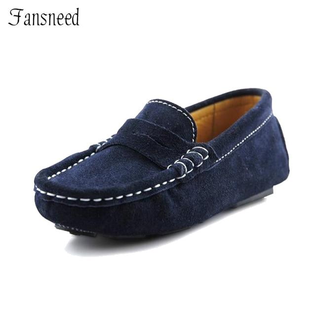 revendeur e9df4 44cd3 Aliexpress.com: Acheter Nouvelle arrivée 2017 enfants chaussures enfant en  cuir nubuck Mocassins mâle enfant petit en cuir véritable chaussures ...
