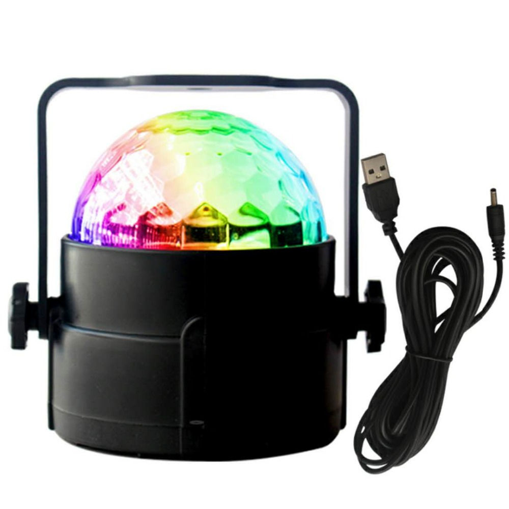 Mini RGB Crystal Magic Ball Sound Activated Disco Ball Stage Christmas Projector Dj Club Party Light Show