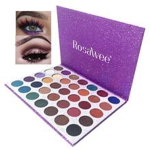 ROSAWEE Professional Glitter Eyeshadow Palette 35 Colors Long Lasting Matte Eye Shadow Makeup Women Beauty Cosmetic Gift