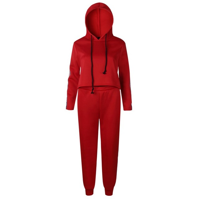 2 Piece Set Top And Pants Sexy Striped Ladies Leisure Two Pieces Pullover Suits 3